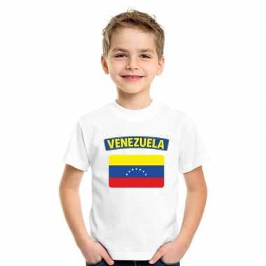 T-shirt wit venezuela vlag wit jongens en meisjes