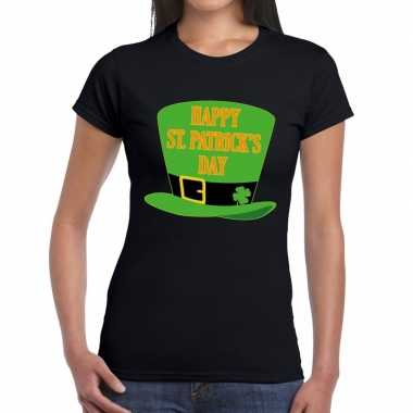 T-shirt zwart happy st. patricksday zwart dames