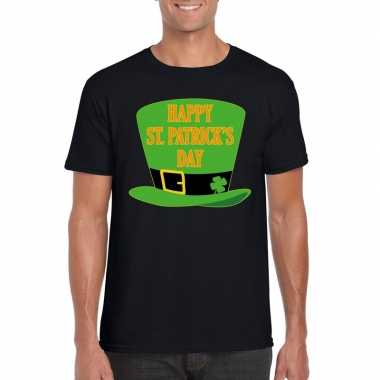 T-shirt zwart happy st. patricksday zwart heren