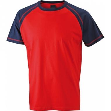 T-shirts voor heren in de kleuren rood en navy
