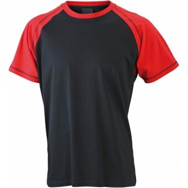 T-shirts voor heren in de kleuren zwart en rood