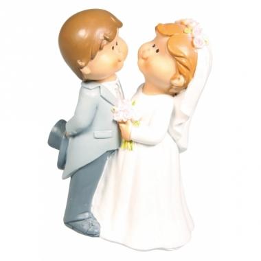 Taart decoratie bruidspaartje 11 cm