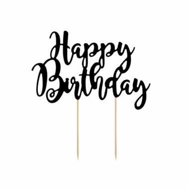 Taart decoratie happy birthday