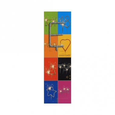 Taart sterretjes letter e van 7 cm