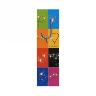 Taart sterretjes letter j van 7 cm