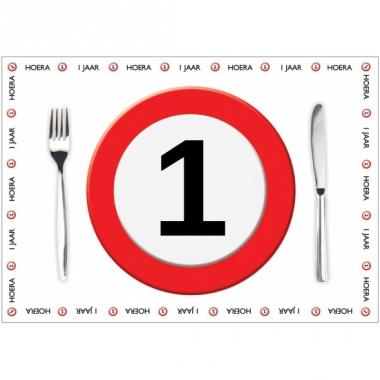 Tafel placemats 1 jaar 10 stuks