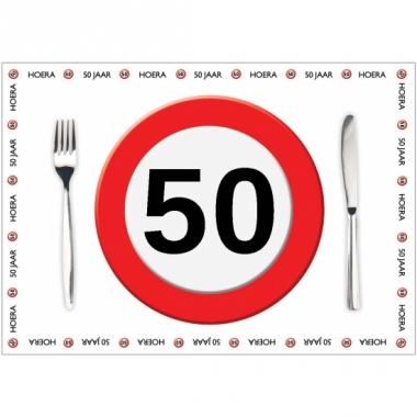 Tafel placemats 50 jaar 10 stuks