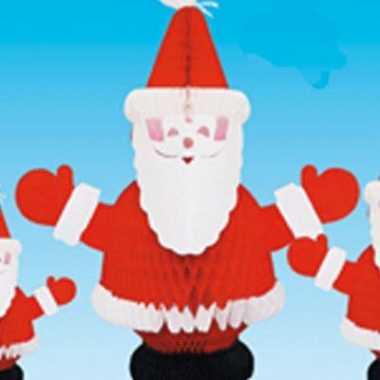 Tafeldecoratie kerstman brandvertragend