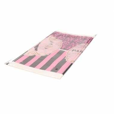 Tafelkleed parijs roze 259 cm
