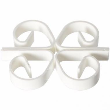 Tafellaken klemmen wit 4 stuks