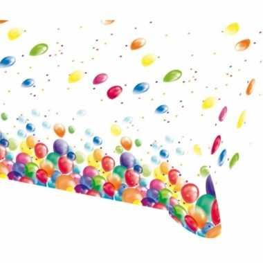 Tafelzeil met feestelijke ballonnen opdruk plastic 135x200