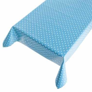 Tafelzeil polkadot blauw 140 x 170 cm