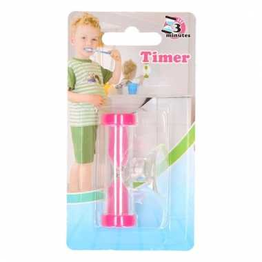 Tandenpoets timer roze 3 minuten