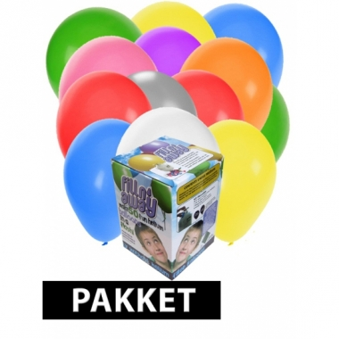Tankje incl. 100 gekleurde ballonnen