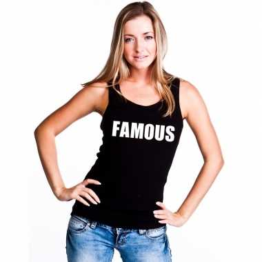 Tanktop famous dames zwart