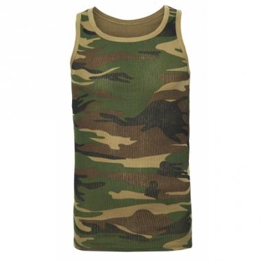 Tanktop met camouflage print voor heren