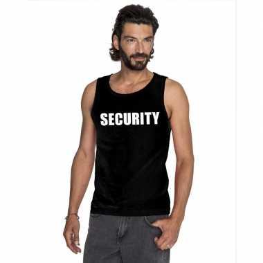 Tanktop security heren zwart