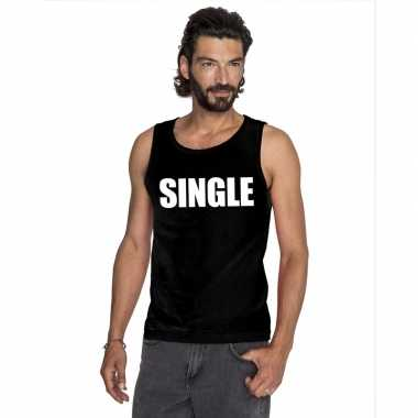Tanktop single heren zwart