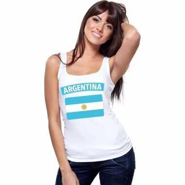 Tanktop wit argentinie vlag wit dames