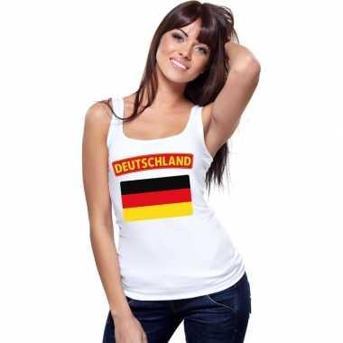 Tanktop wit duitsland vlag wit dames