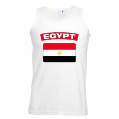 Tanktop wit egypte vlag wit heren