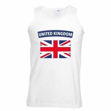 Tanktop wit engeland vlag wit heren