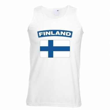 Tanktop wit finland vlag wit heren