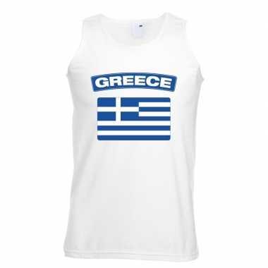 Tanktop wit griekenland vlag wit heren
