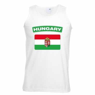 Tanktop wit hongarije vlag wit heren