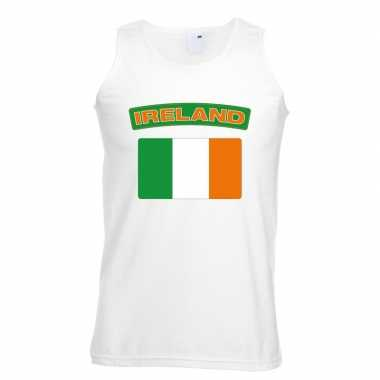 Tanktop wit ierland vlag wit heren