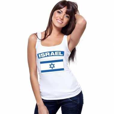Tanktop wit israel vlag wit dames