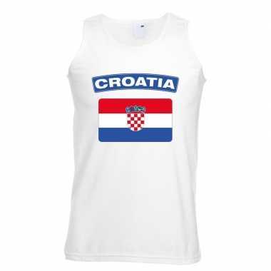 Tanktop wit kroatie vlag wit heren