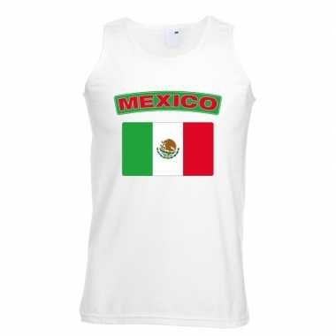 Tanktop wit mexico vlag wit heren