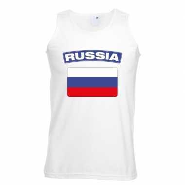 Tanktop wit rusland vlag wit heren