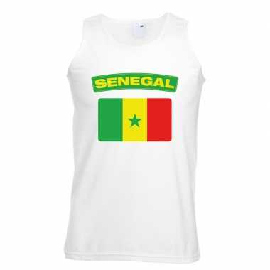 Tanktop wit senegal vlag wit heren