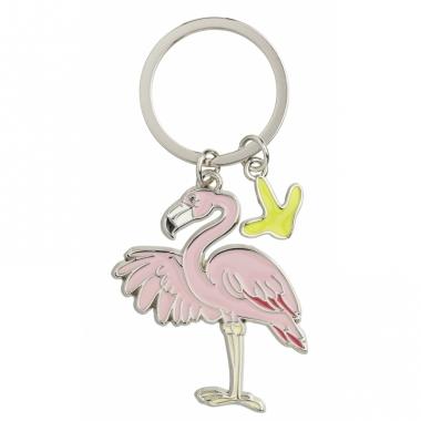 Tas sleutelhanger flamingo 5 cm