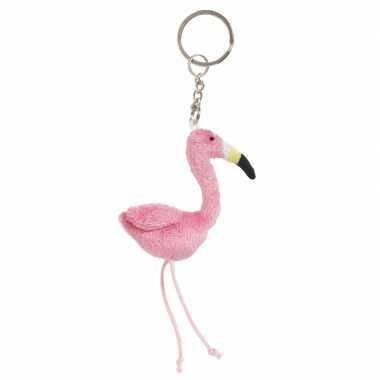 Tas sleutelhanger flamingo 6 cm