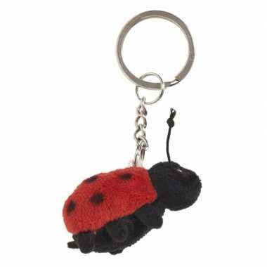 Tas sleutelhanger lieveheersbeestje 6 cm