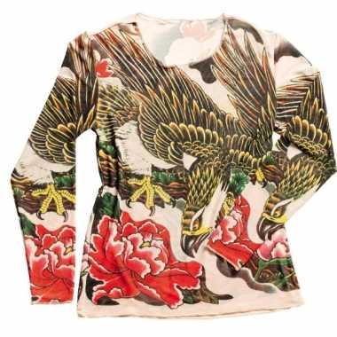 Tattoo verkleed shirtje voor dames