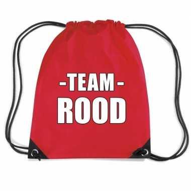 Team rood rugtas voor bedrijfsuitje