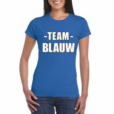 Team shirt blauw dames voor bedrijfsuitje