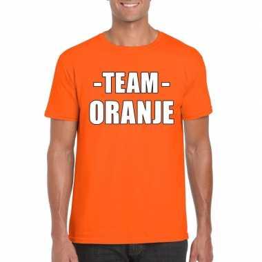 Team shirt oranje heren voor bedrijfsuitje