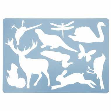 Teken sjabloon dieren