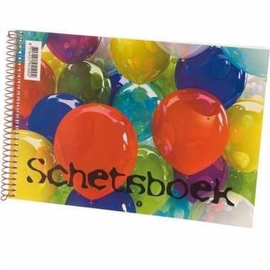 Tekenboek wit a4 formaat ballon
