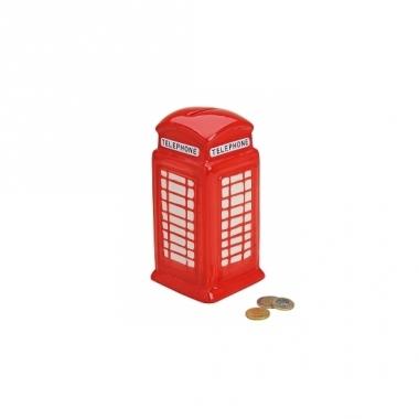 Telefooncel spaarpot rood 19 cm