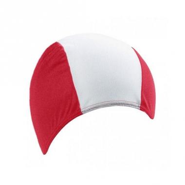 Textiel badmuts voor volwassenen rood wit