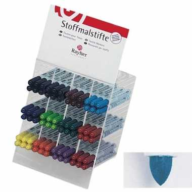 Textiel marker blauw met dunne punt