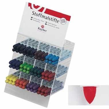 Textiel marker rood met dunne punt