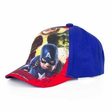 The avengers kids petje/cap blauw