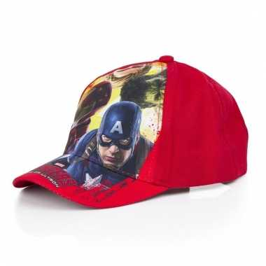 The avengers kids petje/cap rood